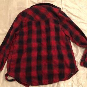 Plaid Button Down Coat